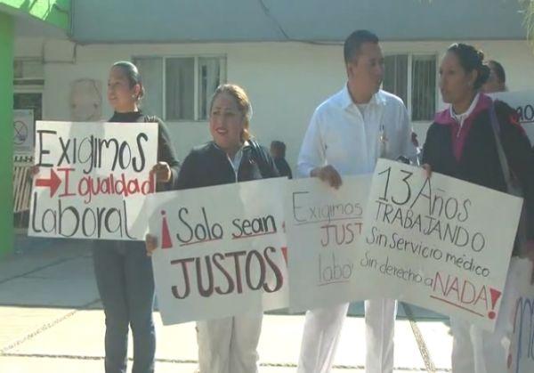 Protesta enfermeras Gómez Palacios
